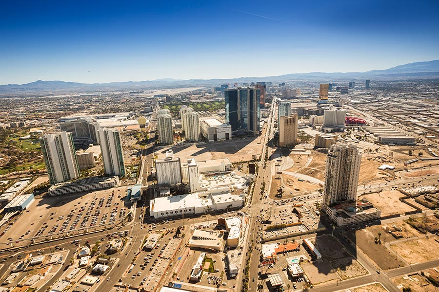 Aerial-view-of-downtown-Las-Vegas-strip-iStock-579739120