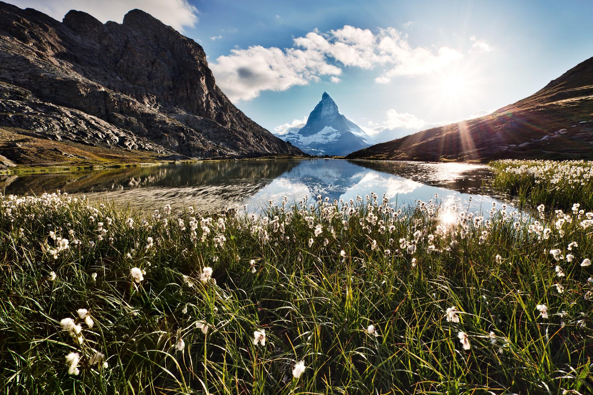 Die schönsten Bergseen der Alpen, Riffelsee am Matterhorn
