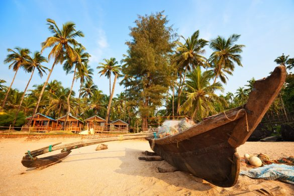 Goa Indien, Palolem Beach, Strand