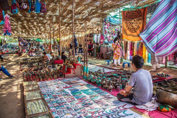 Goa Indien, Hippies, Hippimarkt, Anjuna