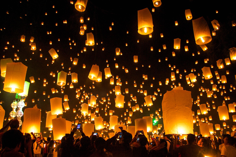 Lichterfest in Thailand, Loy Krathong, Chiang Mai