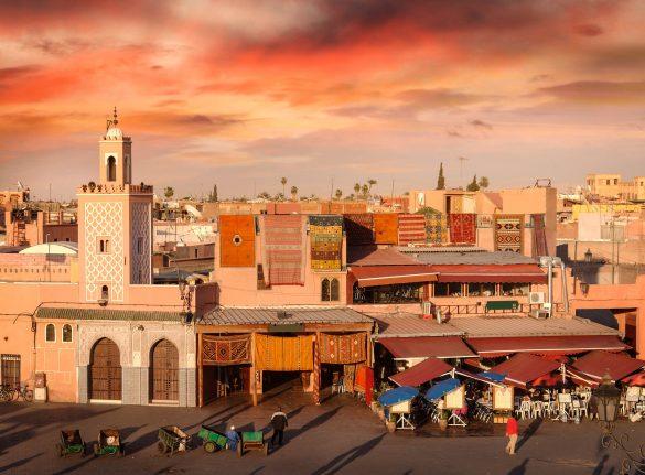 Marrakesch Sonnenuntergang