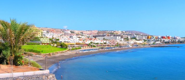 Panoramic view of Costa Adeje bay of Tenerife island (Canaries)_shutterstock_12976426_klein