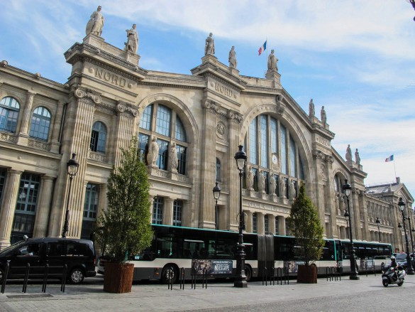 Busses at the Gare du Nord
