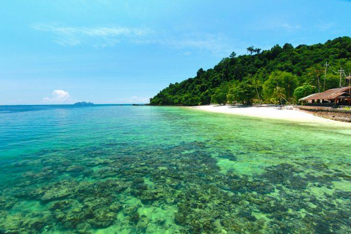Paradise beach in kohngai island at trang Thailand
