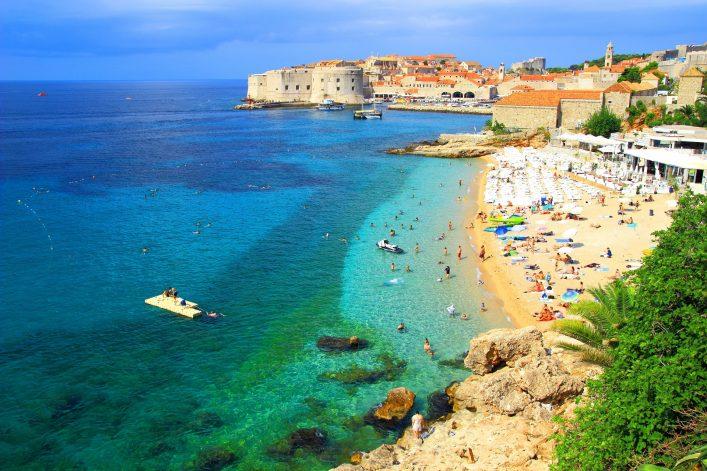 Der Strand Banje bei Dubrovnik