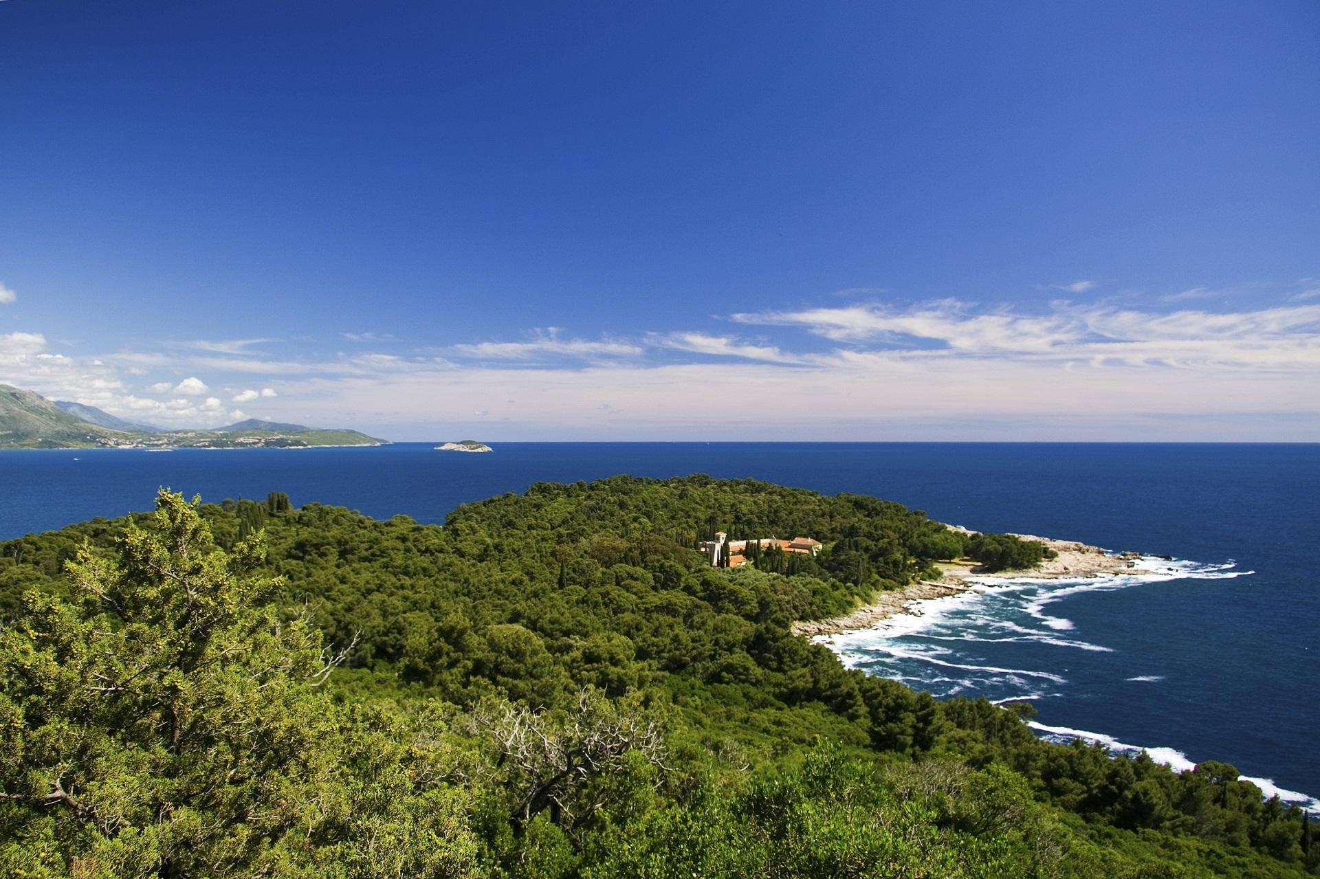 Die Insel Lokrum in Kroatien, nahe Dubrovnik.