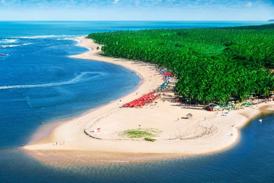 Maceió Beach in Brasilien