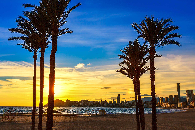 Alicante Tipps Strand sunset Spanien