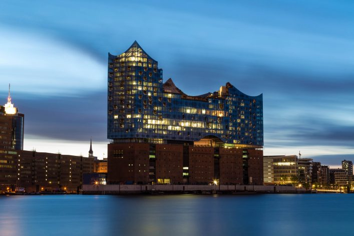 Hamburg harbour , Elbe Philharmonic Hall