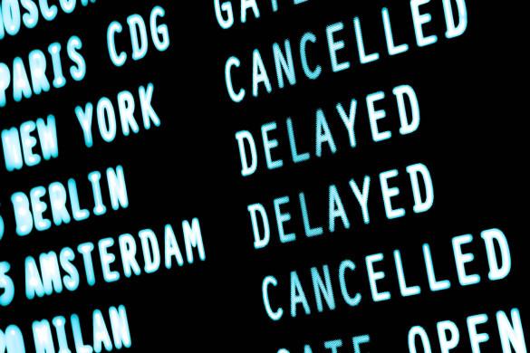 Fluggastrechte Airport Flight Cancelled