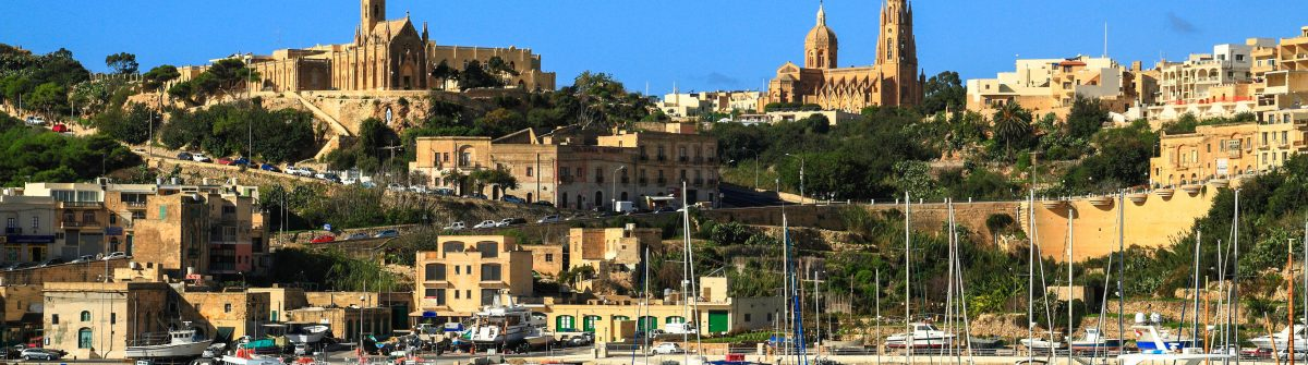 Port of Mgarr on the small island of Gozo, Malta