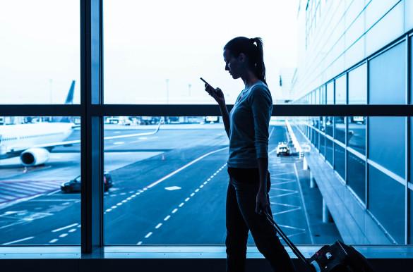 Fluggastrechte Airport Smartphone