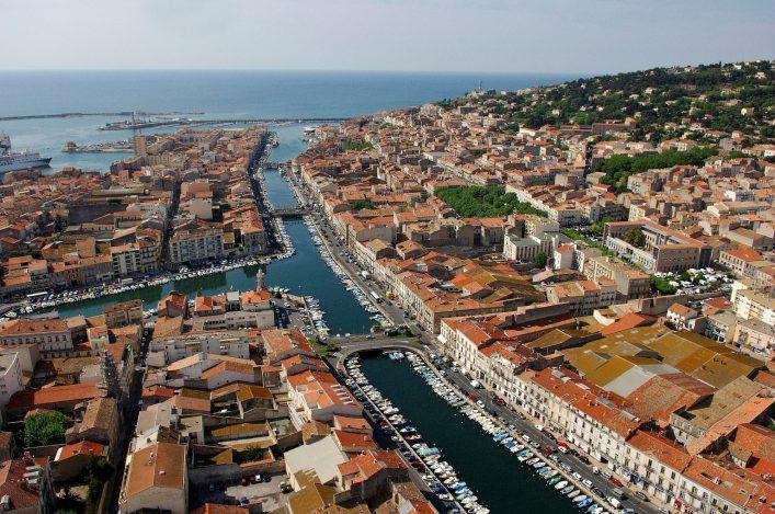 1 SETE , la Venise du languedoc Crédit photo MRW Zeppeline Languedoc