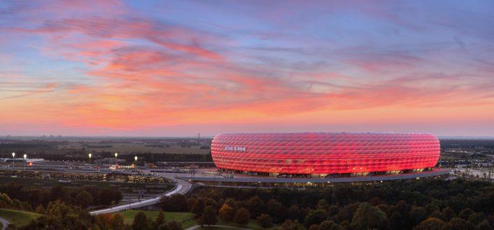Allianz Arena at Sunset
