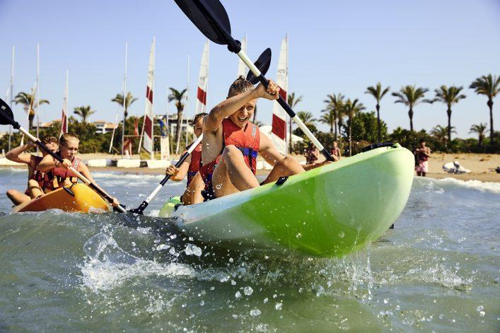 Wassersport Clubhotels mit Kanufahren und Segeln