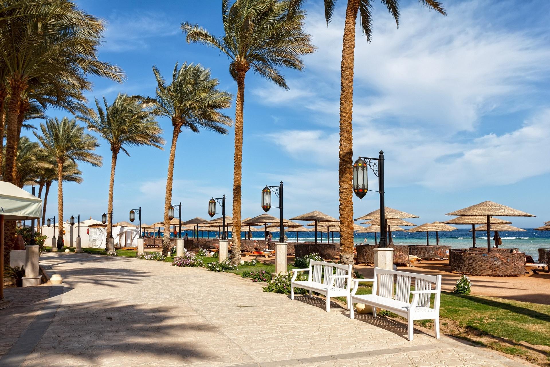 Promendade am Strand Sharm el Sheikh