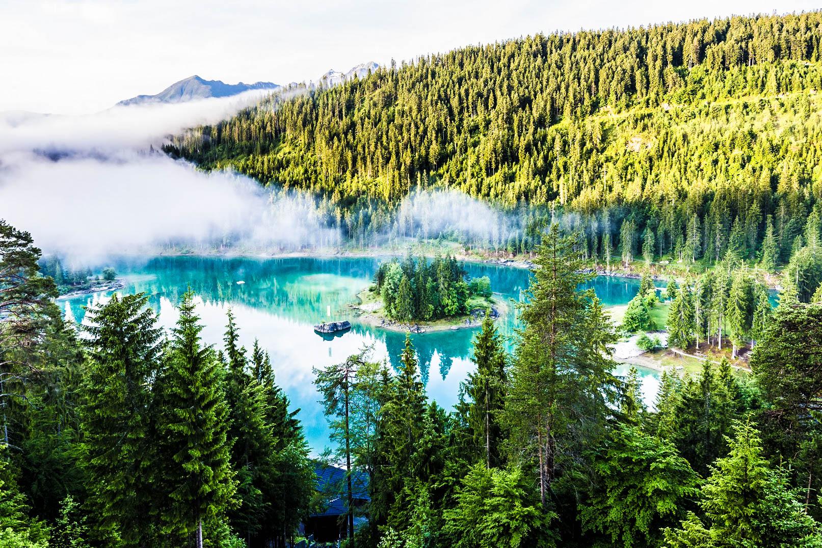 Die schönsten Bergseen der Schweiz Caumasee