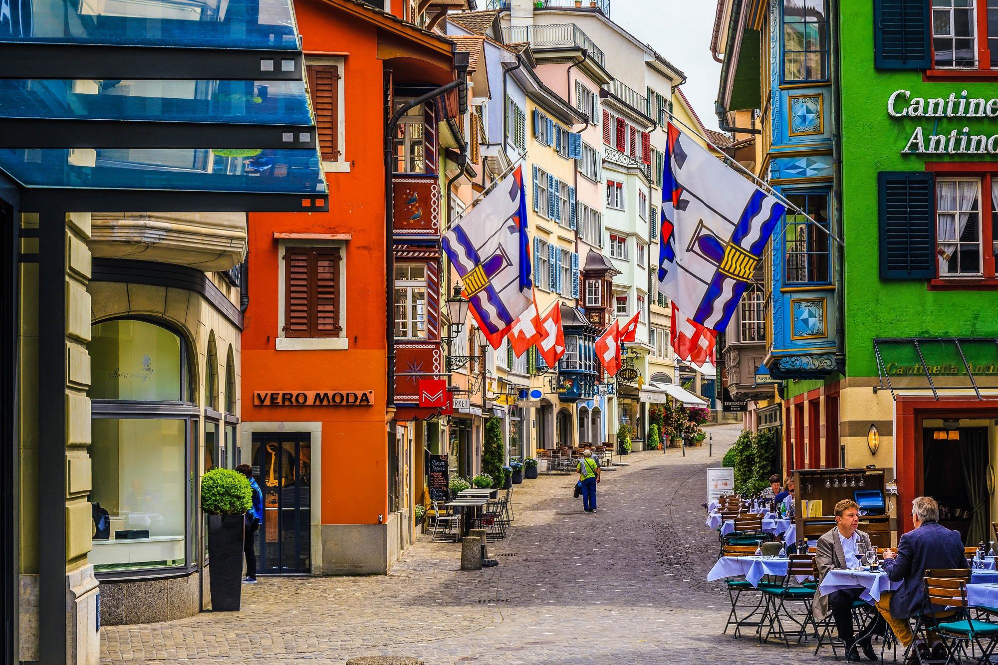 Blick auf Zürichs Innenstadt
