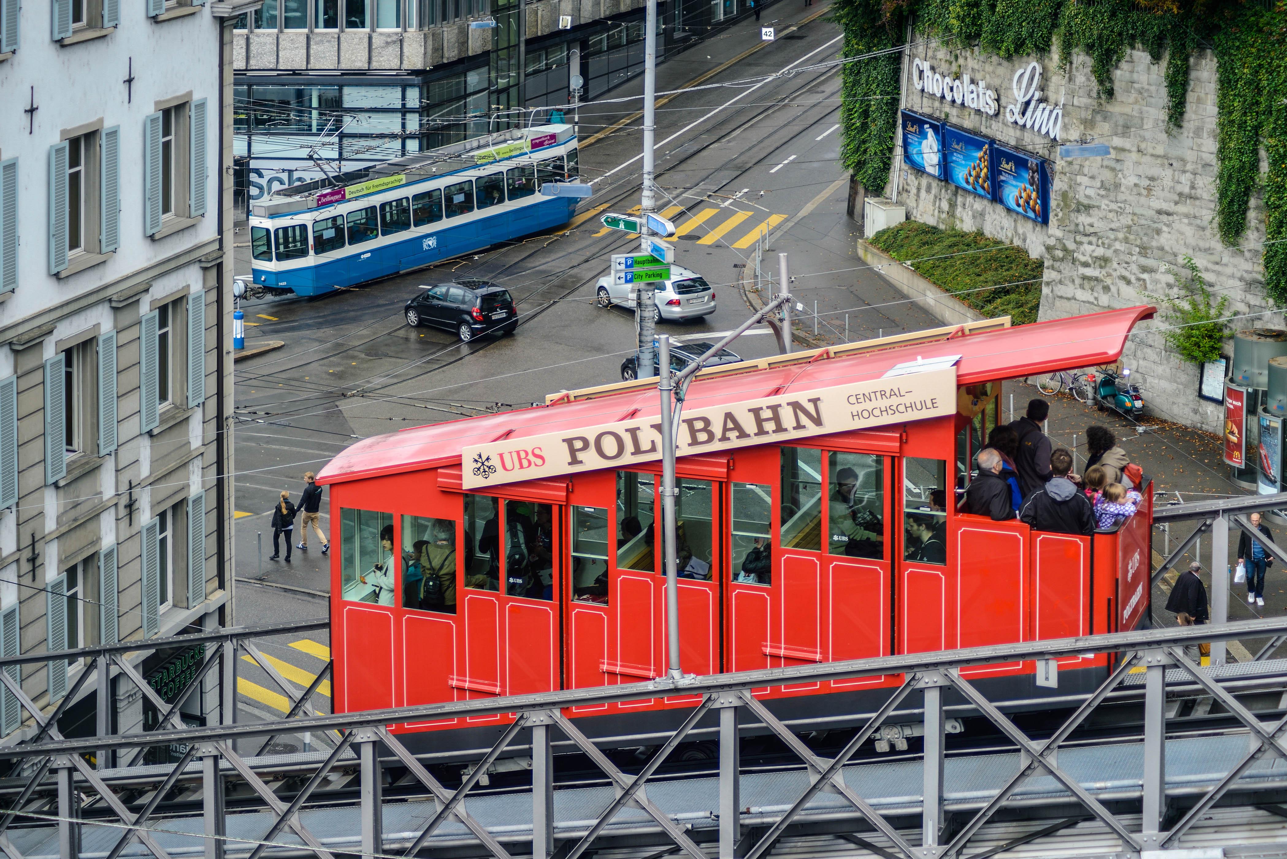 Die Polybahn in Zürich