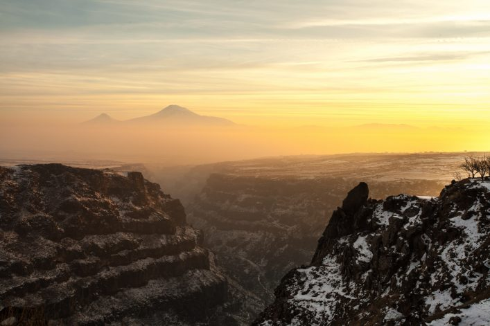 Panoramic-view-of-Mount-Ararat-in-Armenia-with-a-beautiful-gorge-in-the-foreground-shutterstock_645070000