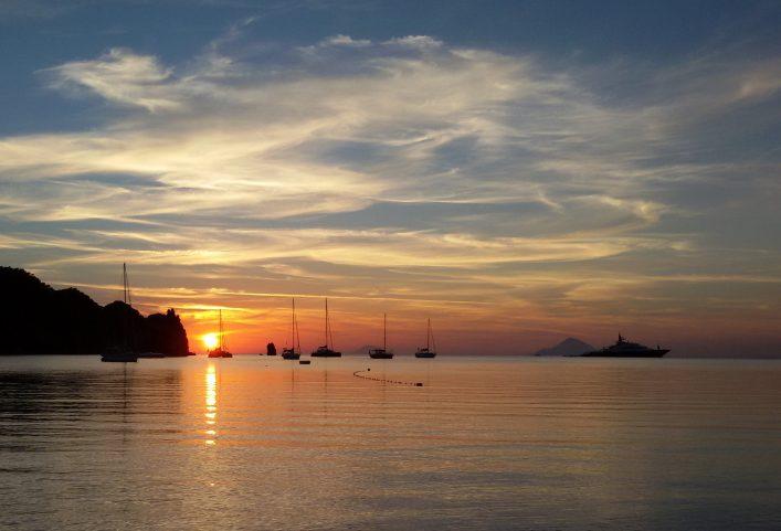 Sunset in Aeolian island shutterstock_537559909