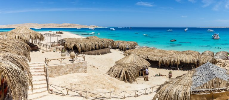 Mahmya Beach on the island in the Red Sea, Egypt
