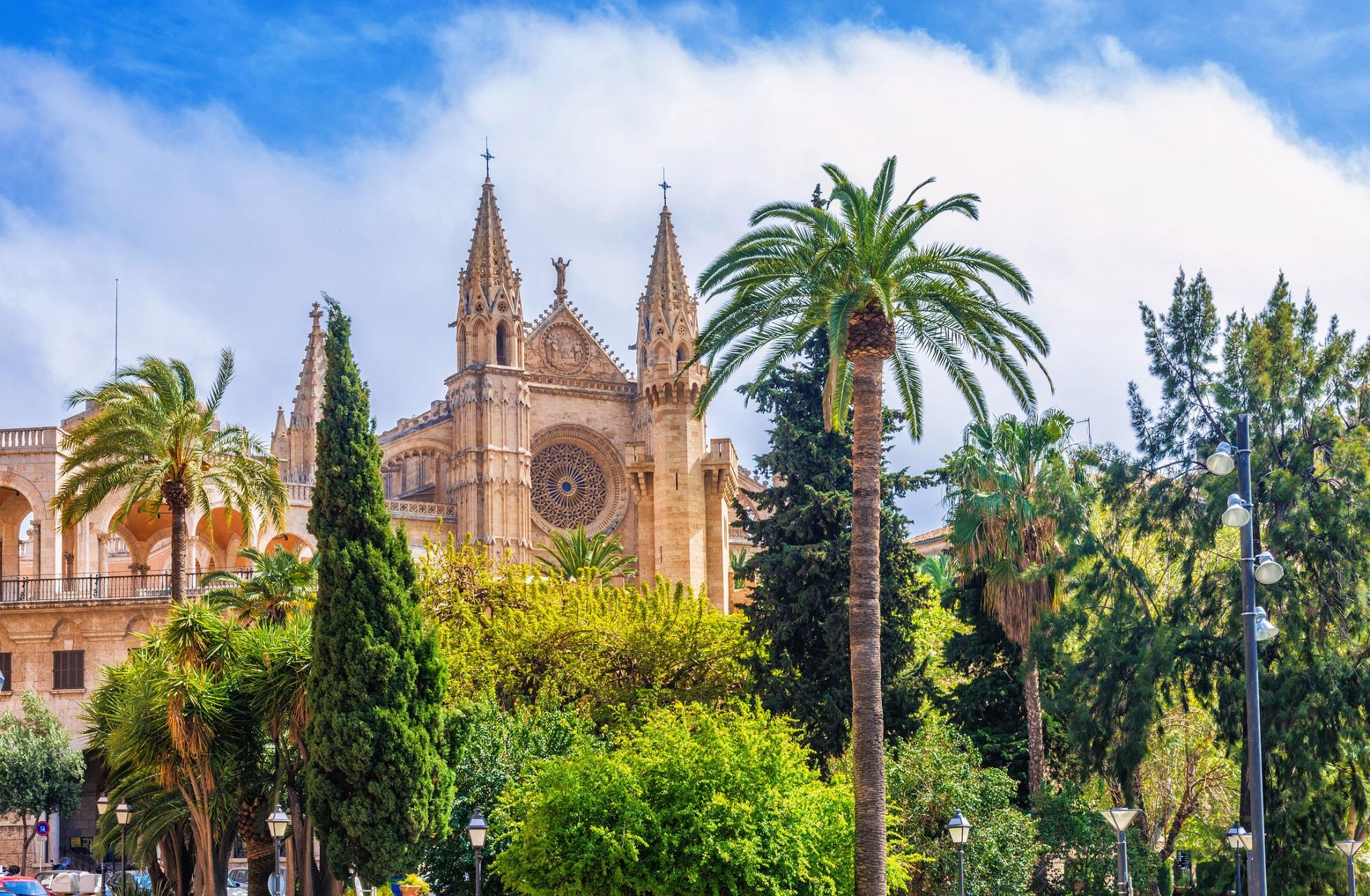 Die Kathedrale La Seu in Palma de Mallorca.