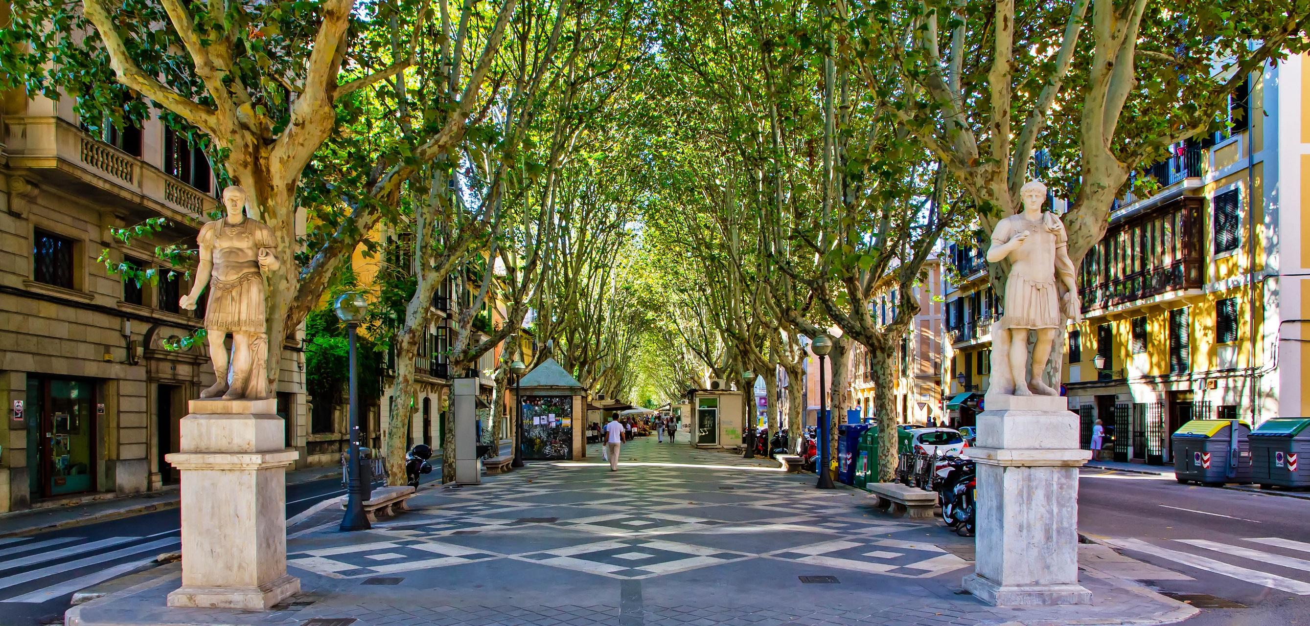 Passeig des Born in der Altstadt von Palma de Mallorca.