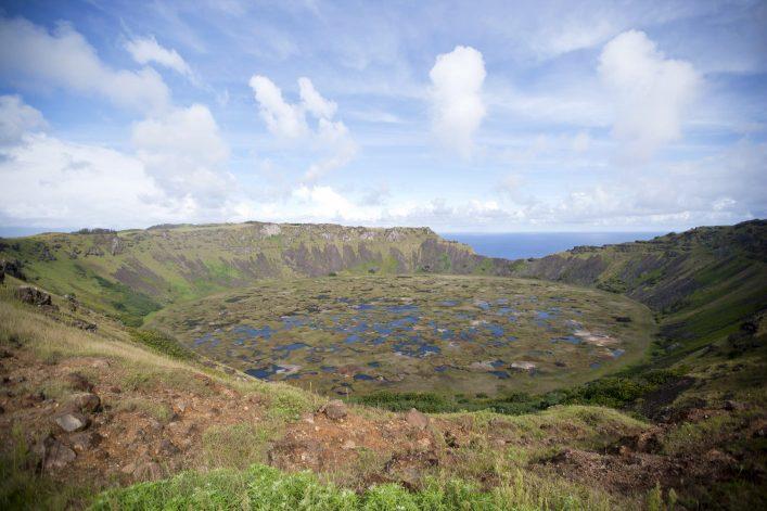 Rano Kao Vulkan auf der Osterinsel