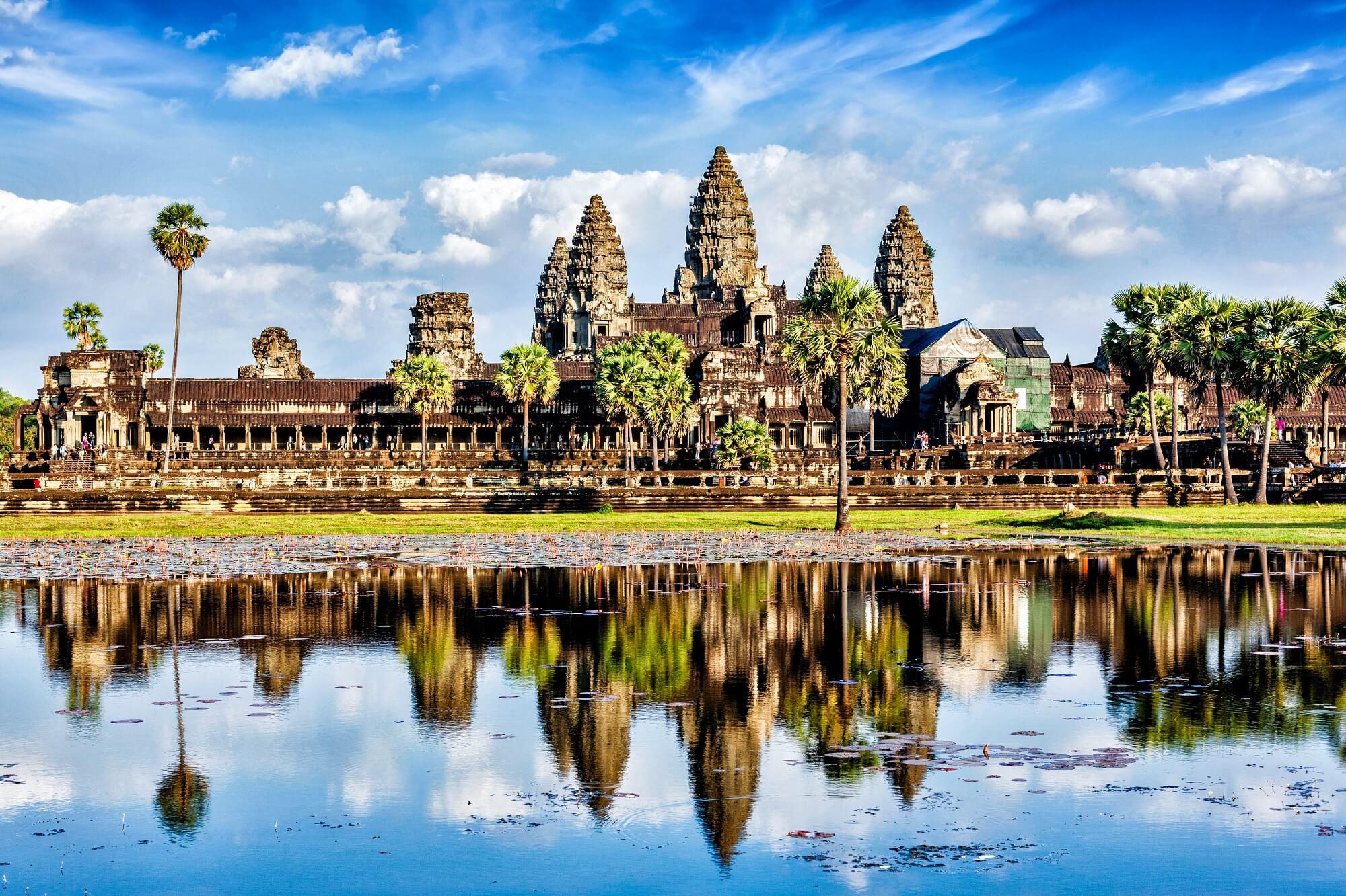 Die beeindruckende Tempelanlage Angkor Wat in Siem Reap