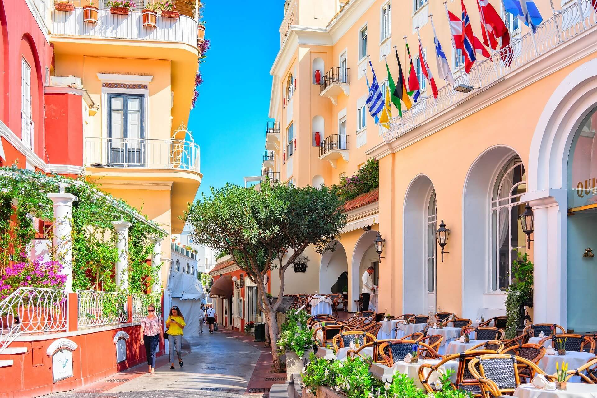 Die bunten Straßen von Capri