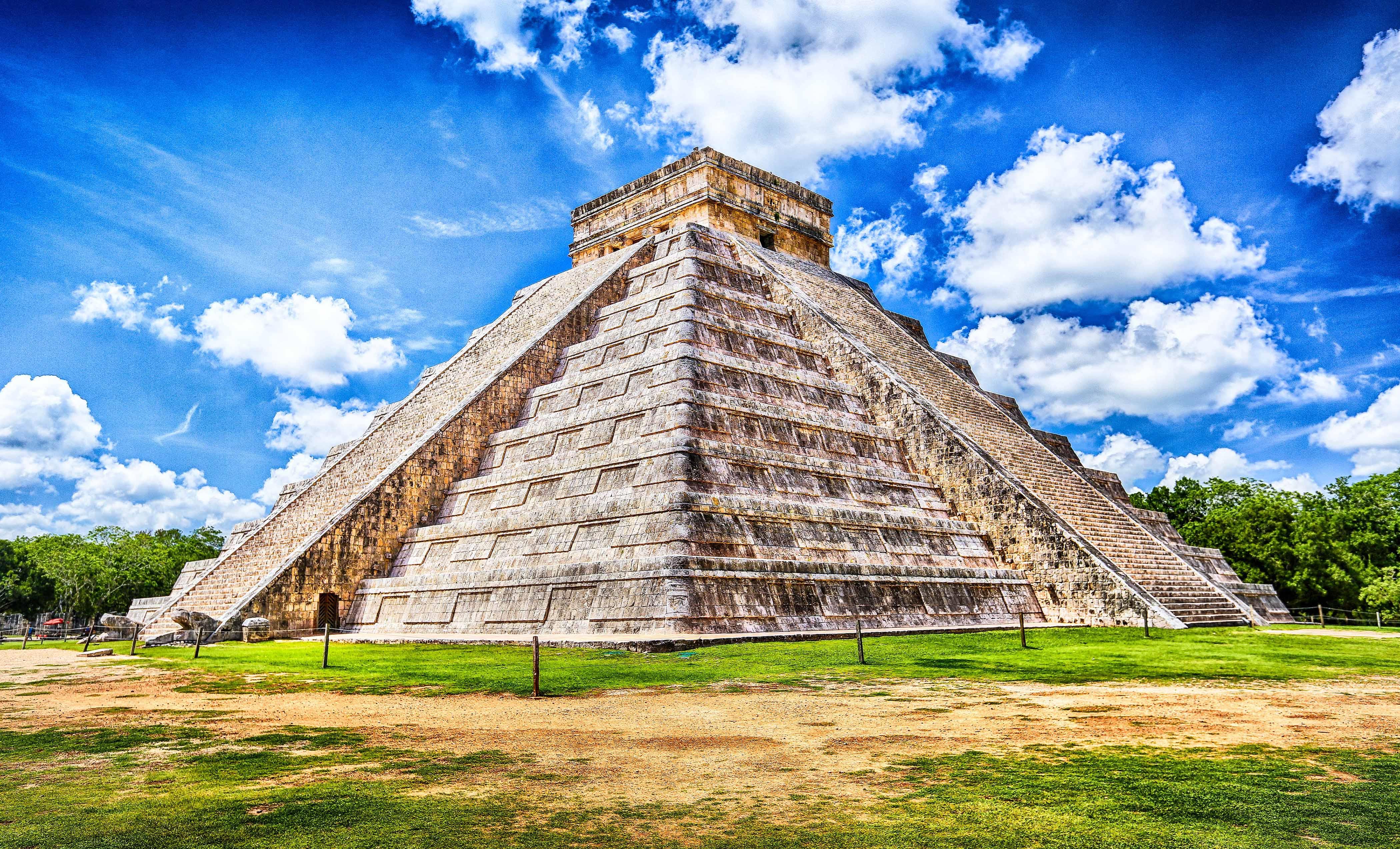 Der Mayatempel Chichen Itza in Mexiko