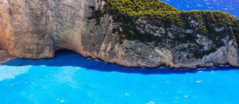 Schmugglerbucht auf Zakynthos auf griechenland