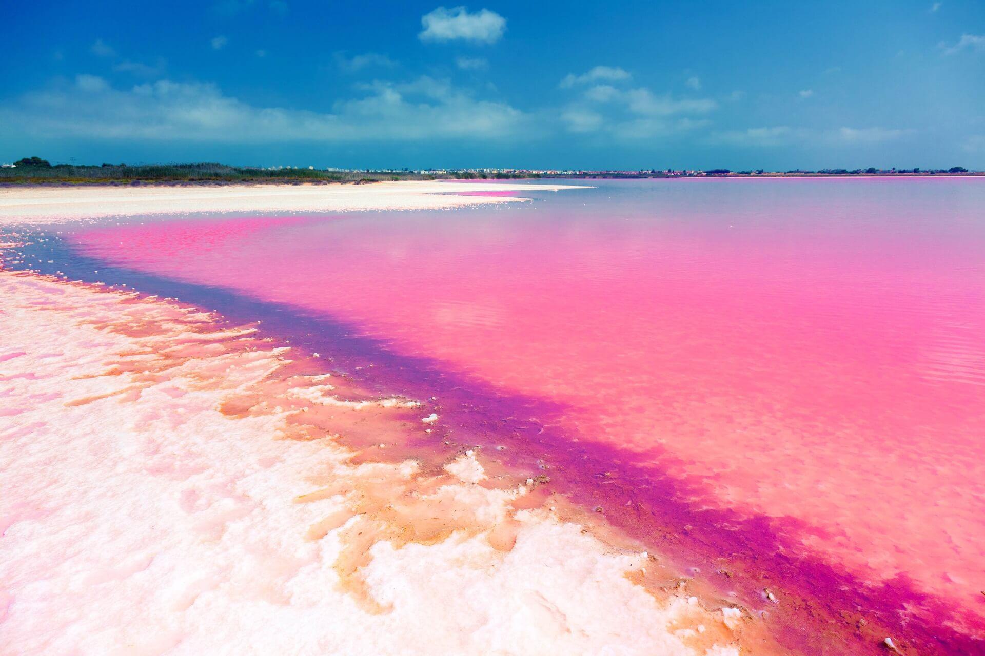Ein pinker See in Spanien
