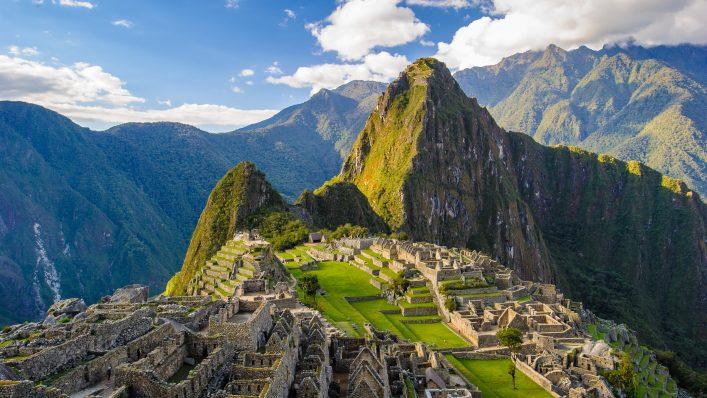 Machu Picchu in den Anden, Peru.