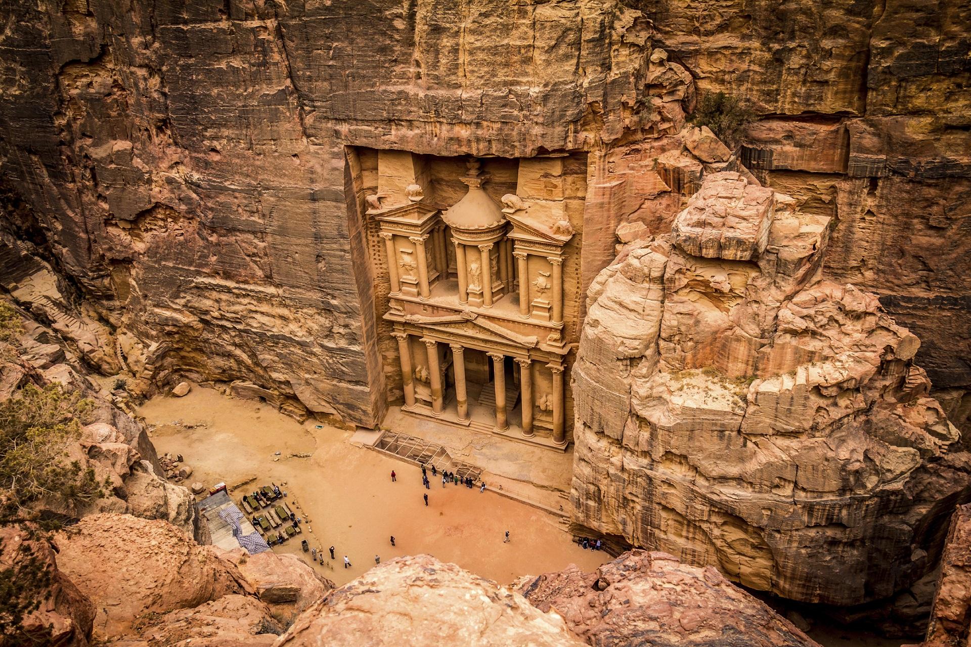 Felsenstadt Petra im Jordan