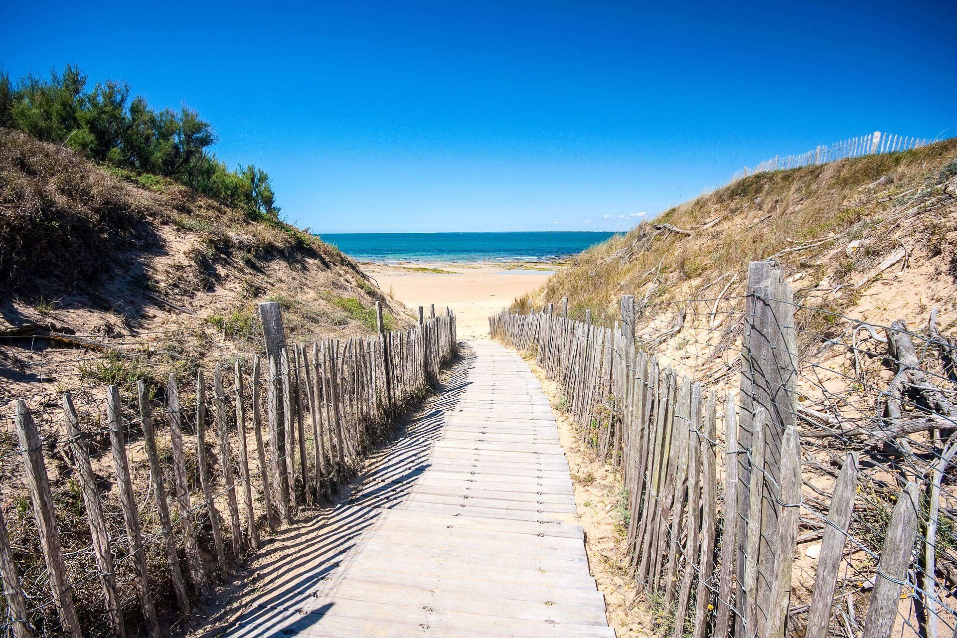 Strandpromenade Île de Ré Frankreich