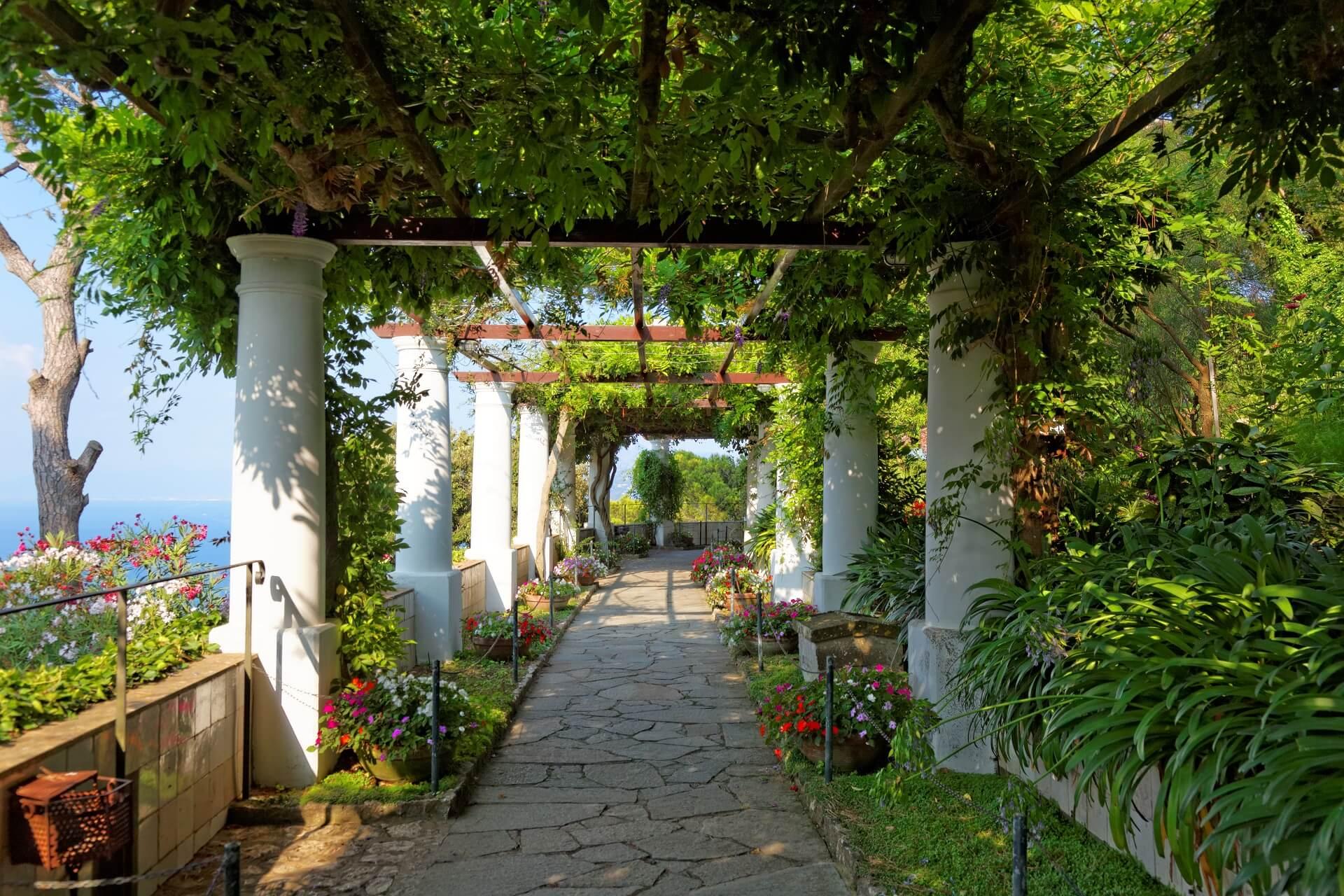 Der Garten der San Michele Villa auf Capri