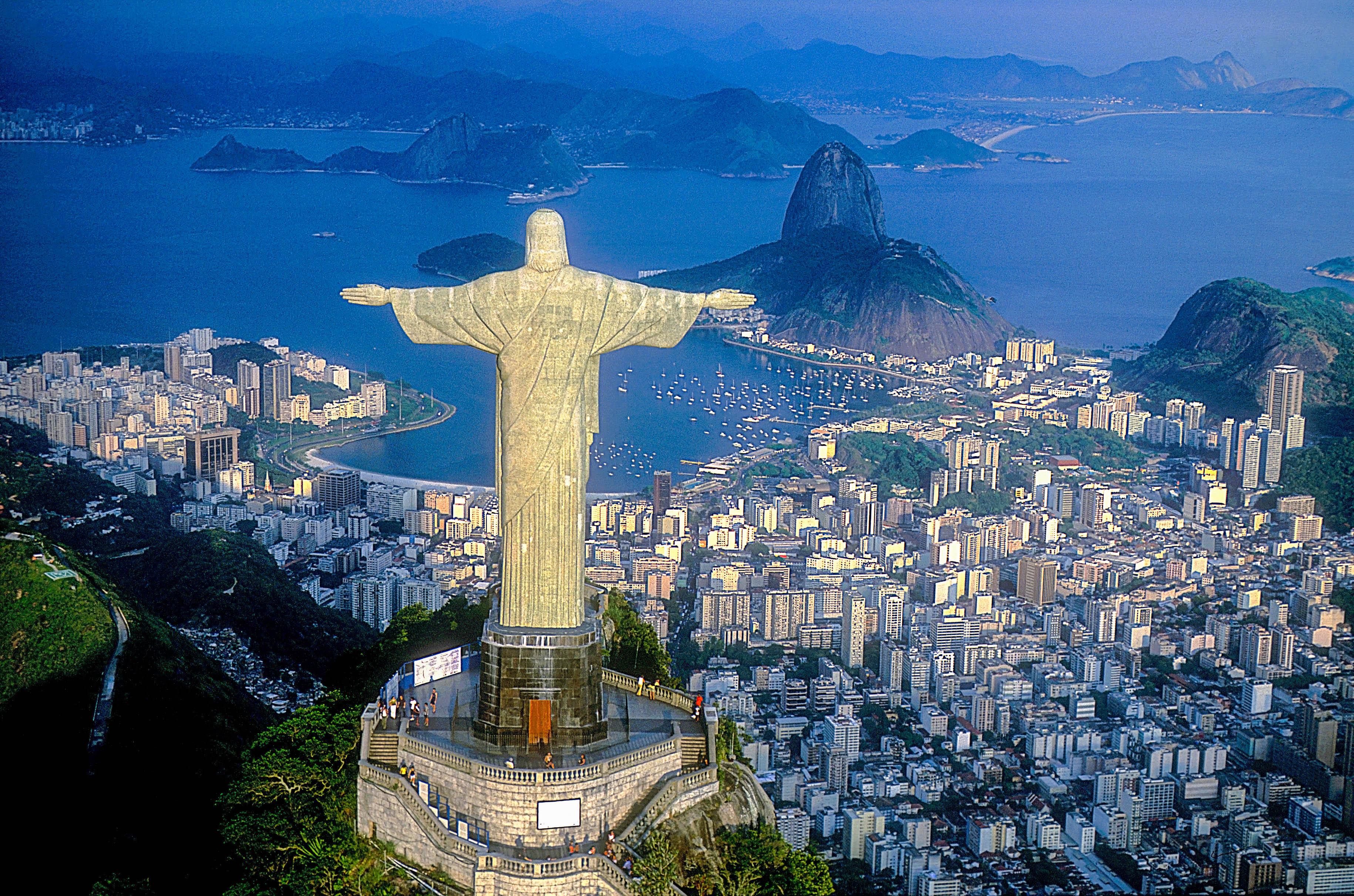 Die Christusstaue in Rio de Jainero
