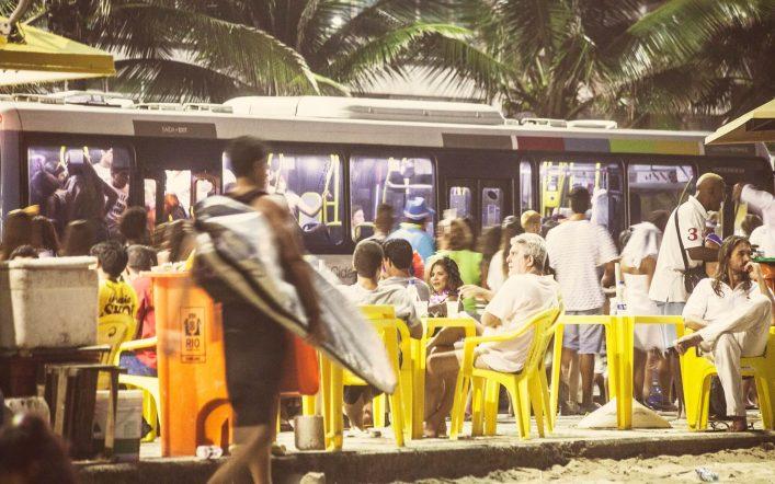 In Rio ist auch nachts überall was los