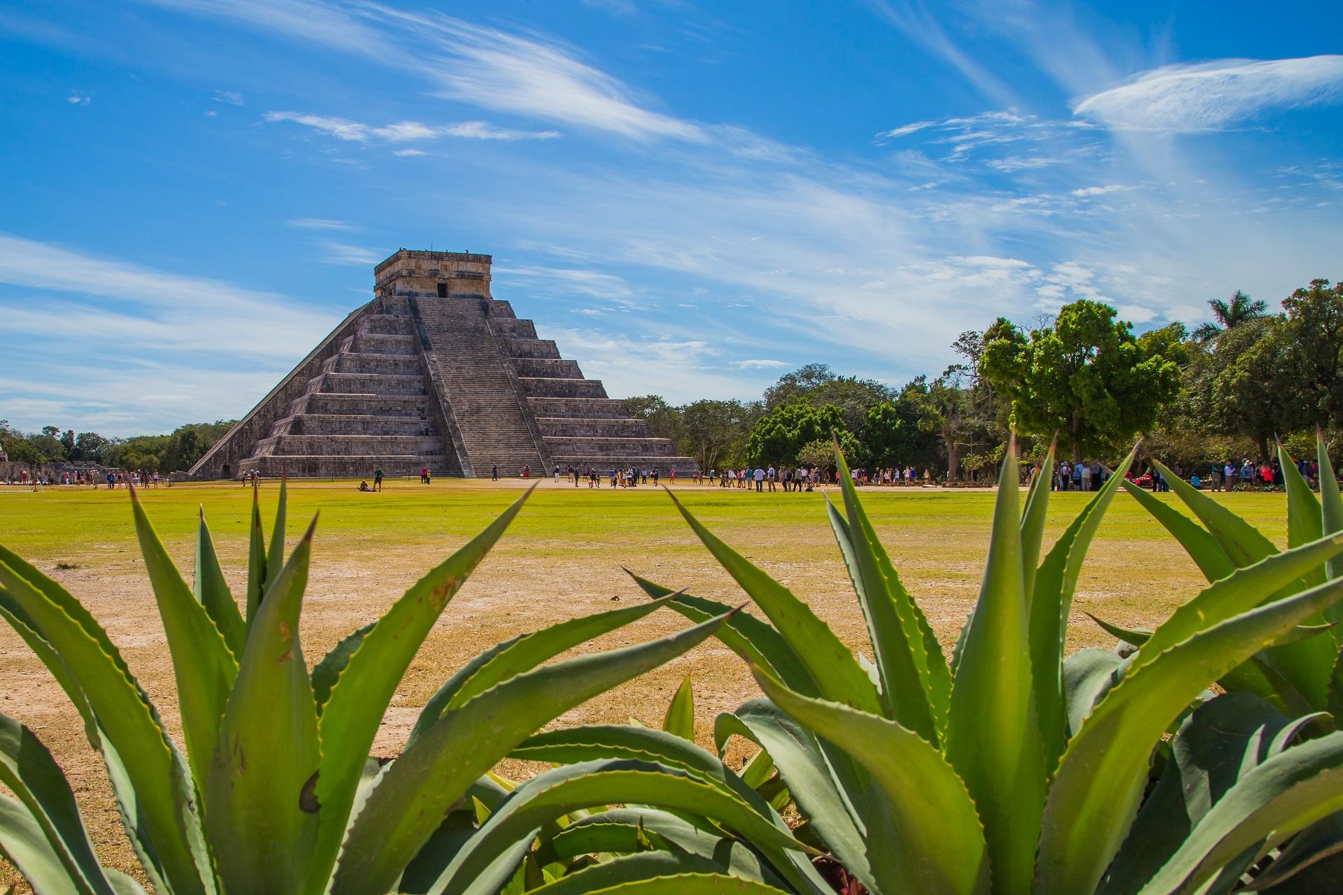 Die Pyramide von Kukulcan El Castillo in Chichen Itza