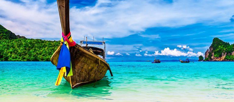 Ein Longtailboot in Thailand