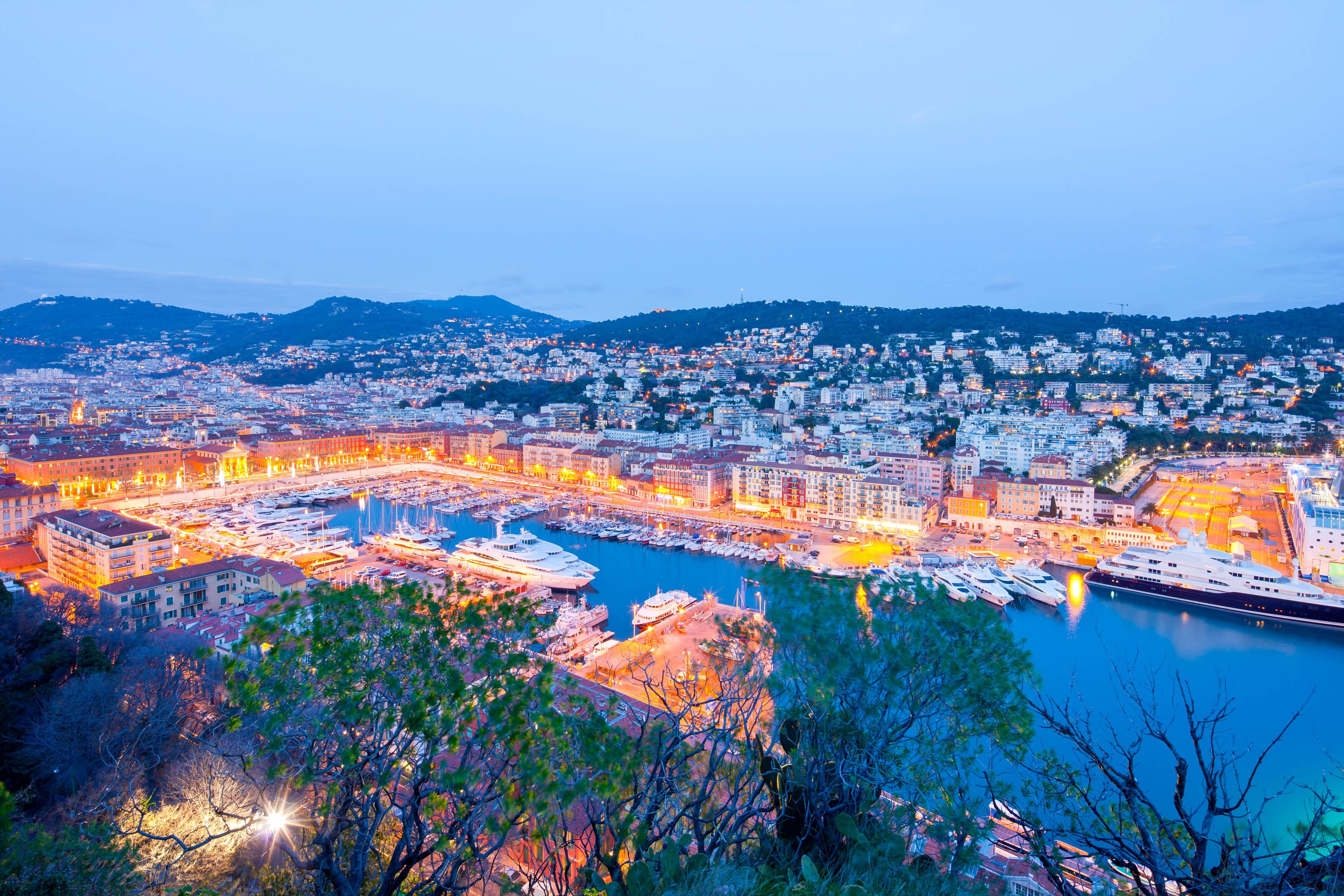 Hafen von Nizza, Blick vom Cathedral Hill