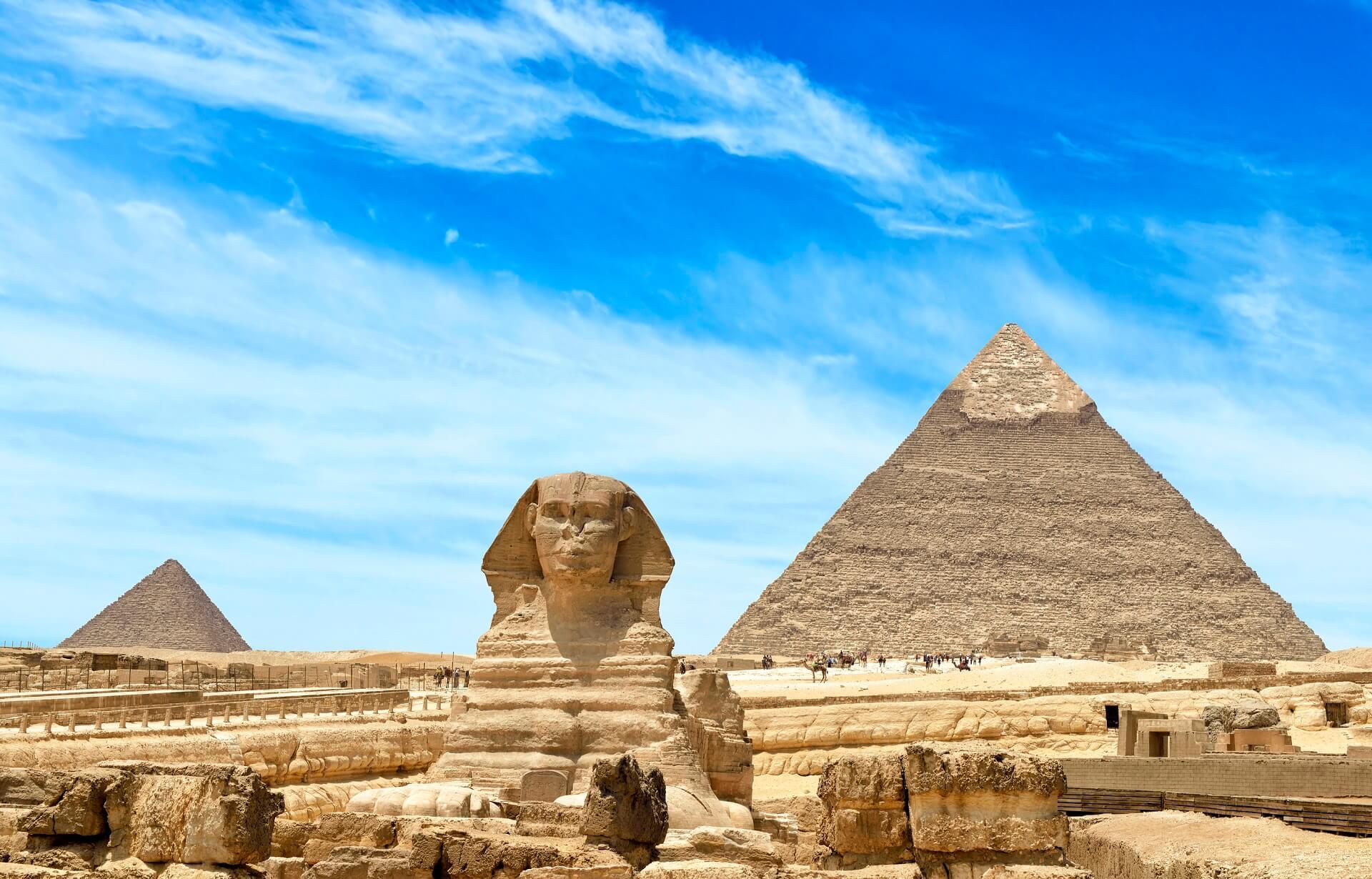 Pyramiden von Gizeh in Ägypten.