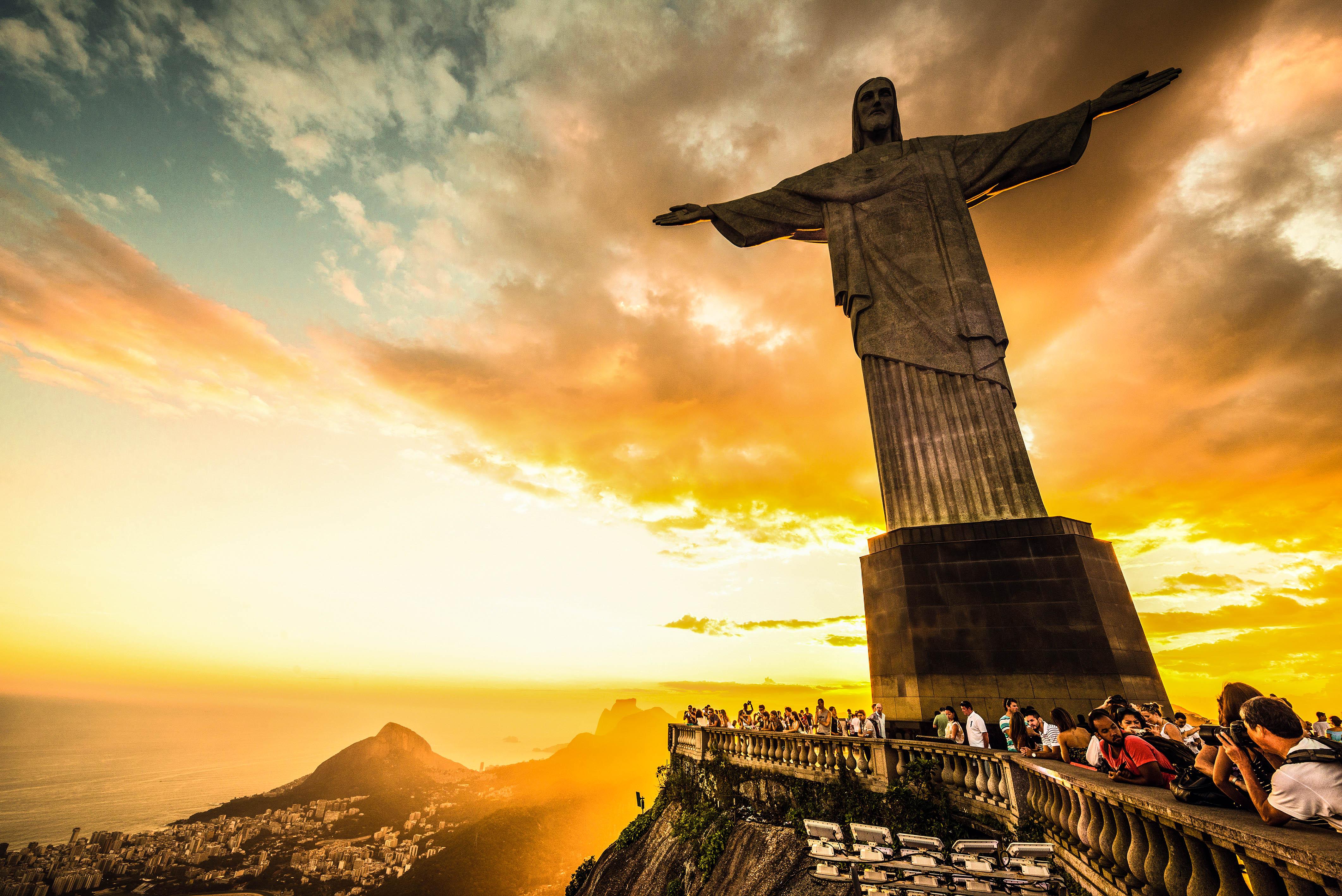 Die Christus Staue in Rio de Janeiro