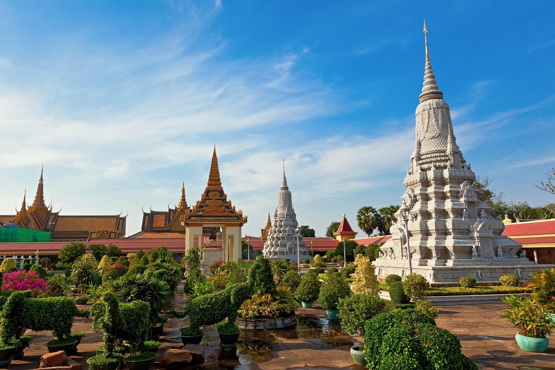 Die Tempelanlage des Royal Palace in Phnom Penh