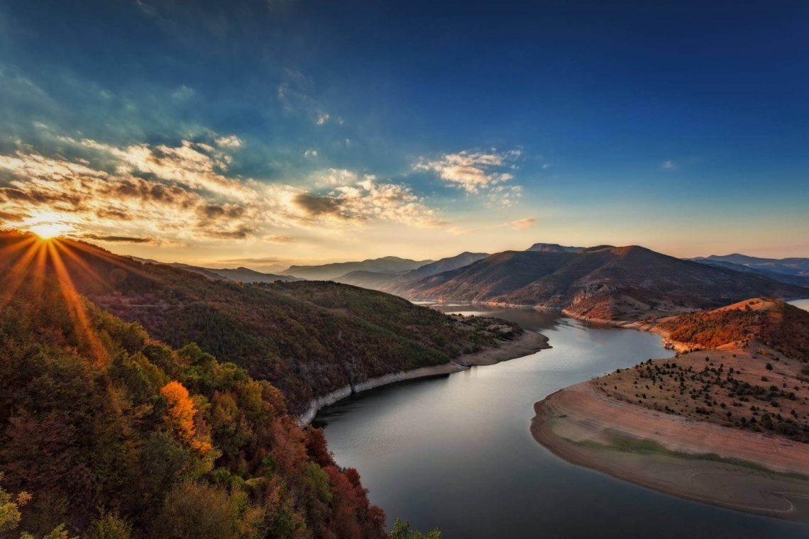 Flusslandschaft in den Rhodopen