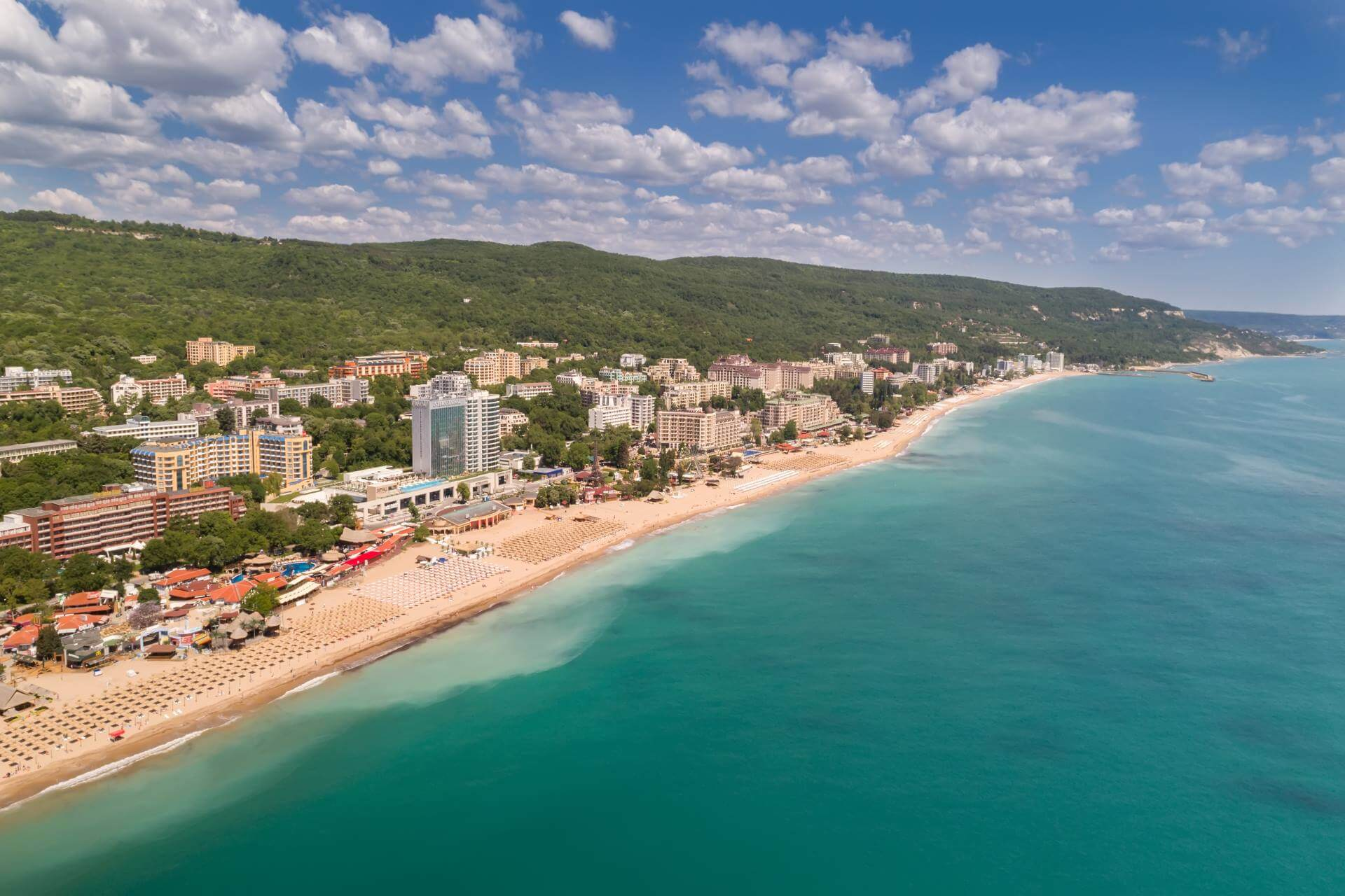 Hotels und Strand am Goldstrand in Bulgarien