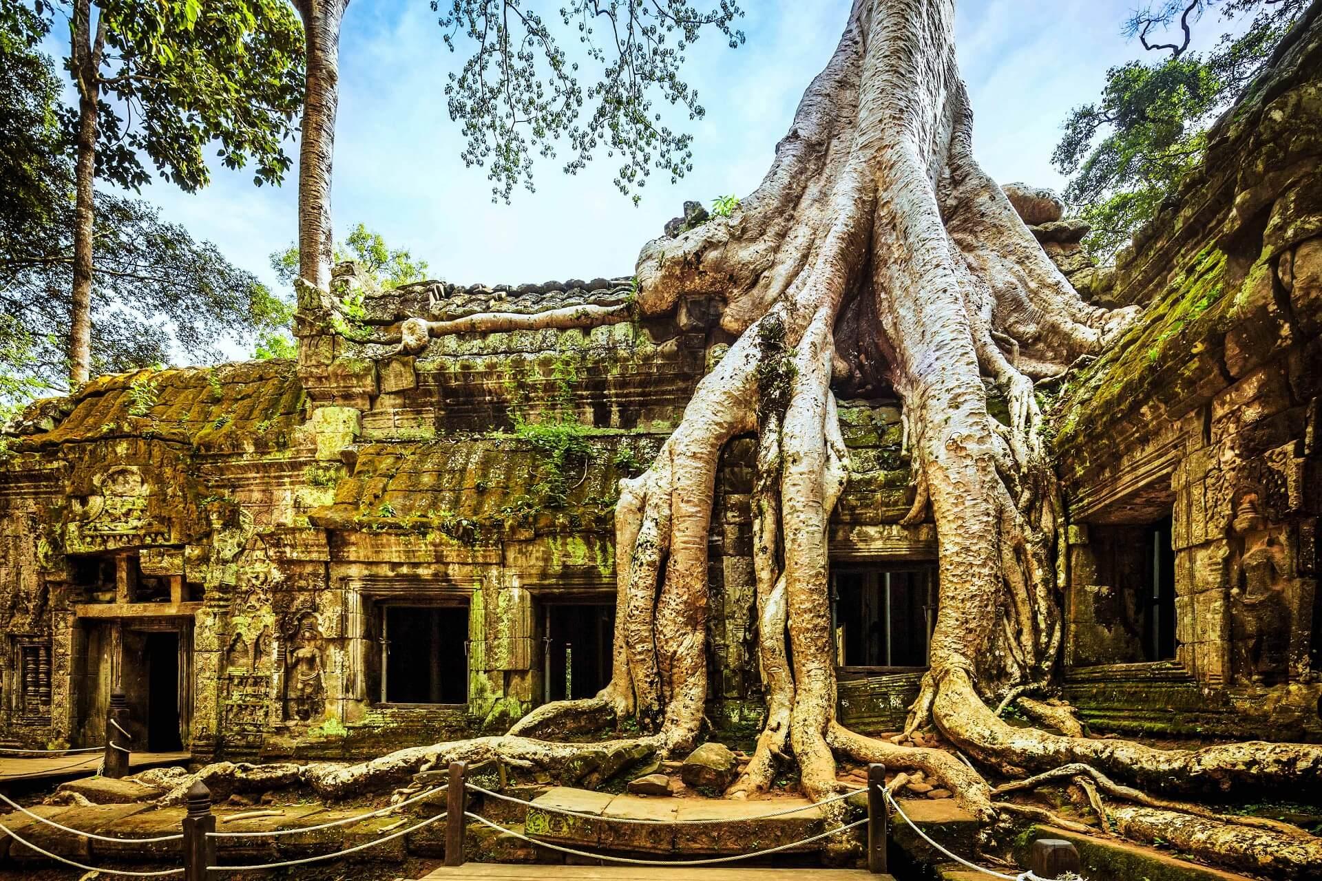 Die Tempelanlage Angkor Wat begeistert alle Profibackpacker